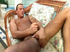 Jimmy visconti having fun in nice scene of solo masturbation